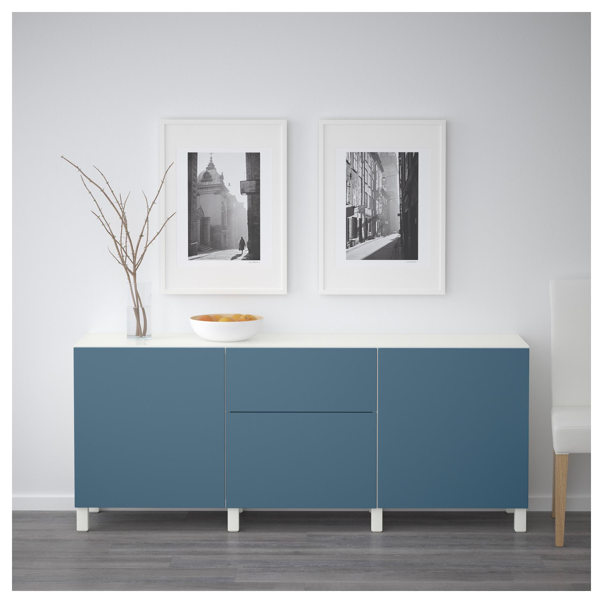 Комбинация для хранения с дверцами, ящиками БЕСТО темно-синий артикуль № 692.462.74 в наличии. Online магазин IKEA Республика Беларусь. Недорогая доставка и установка.