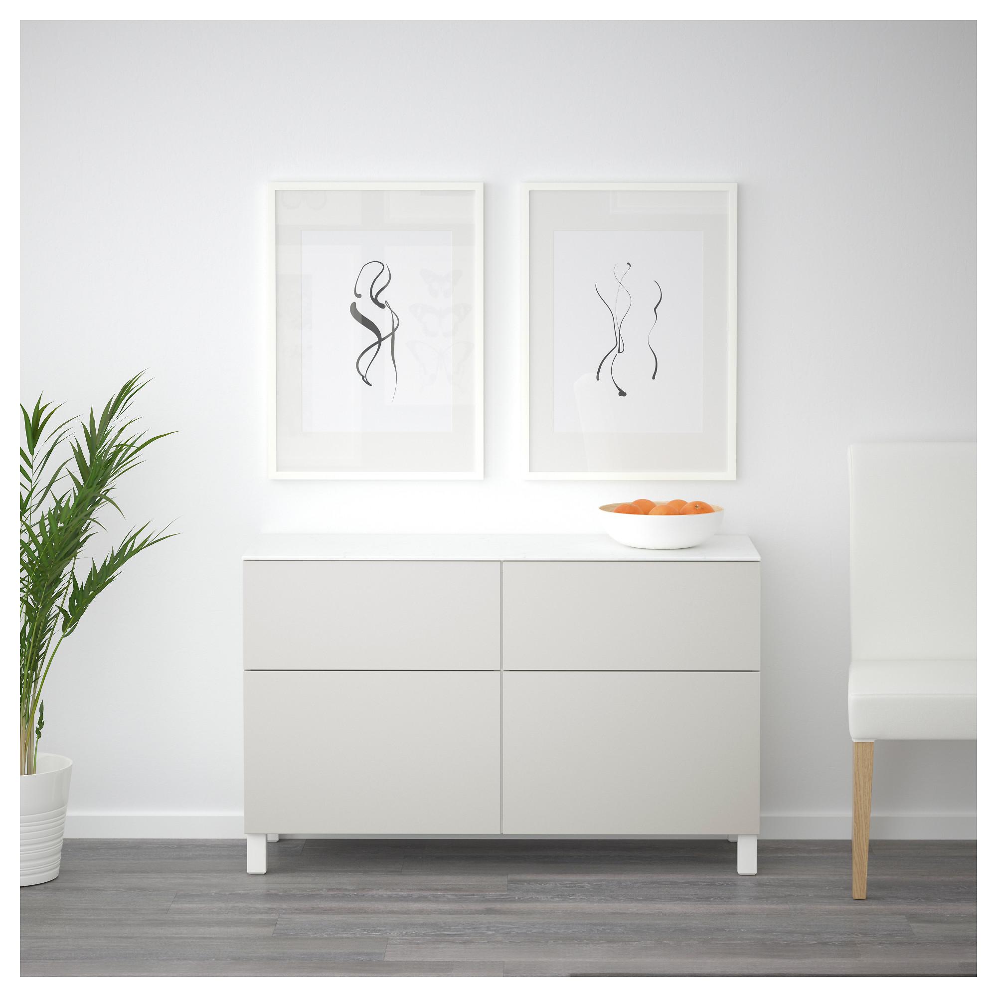 Комбинация для хранения с дверцами, ящиками БЕСТО светло-серый артикуль № 792.447.07 в наличии. Online каталог IKEA РБ. Недорогая доставка и установка.