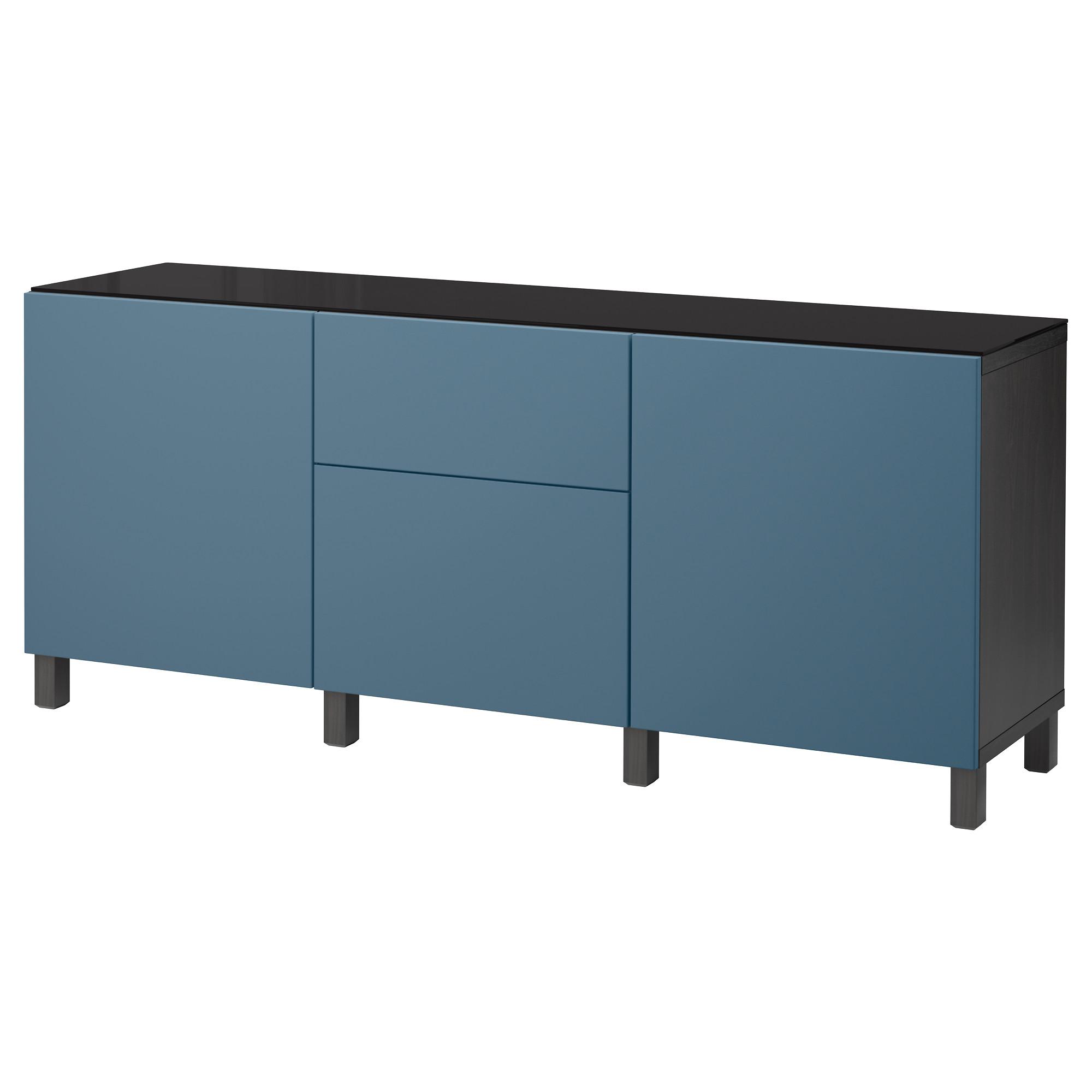 Комбинация для хранения с дверцами, ящиками БЕСТО темно-синий артикуль № 892.462.73 в наличии. Online сайт ИКЕА РБ. Быстрая доставка и установка.