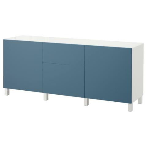 Комбинация для хранения с дверцами, ящиками БЕСТО темно-синий артикуль № 892.462.92 в наличии. Онлайн сайт IKEA Беларусь. Недорогая доставка и монтаж.