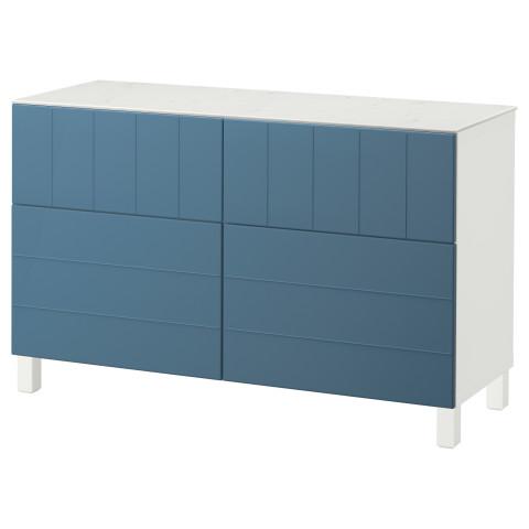 Комбинация для хранения с дверцами, ящиками БЕСТО темно-синий артикуль № 892.758.64 в наличии. Онлайн сайт IKEA Минск. Быстрая доставка и установка.