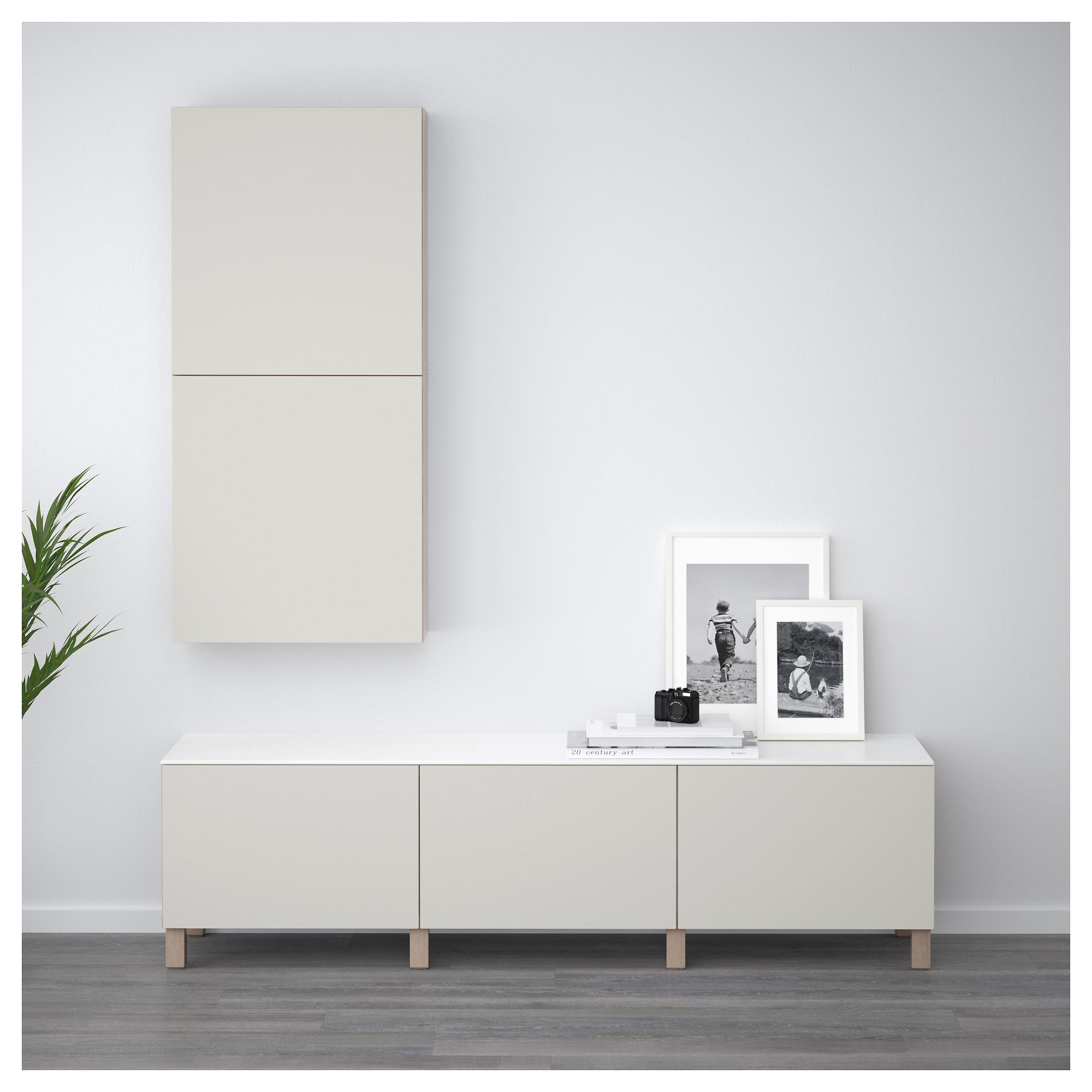 Комбинация для хранения с ящиками БЕСТО светло-серый артикуль № 192.446.49 в наличии. Online магазин IKEA Беларусь. Недорогая доставка и установка.