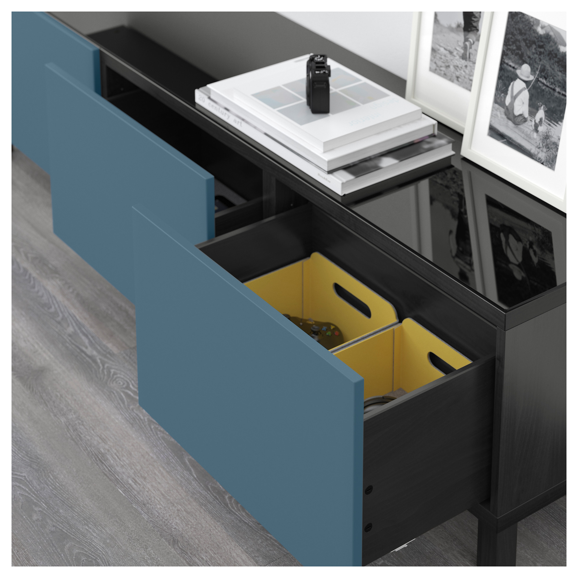 Комбинация для хранения с ящиками БЕСТО темно-синий артикуль № 392.450.68 в наличии. Интернет магазин IKEA Республика Беларусь. Недорогая доставка и монтаж.