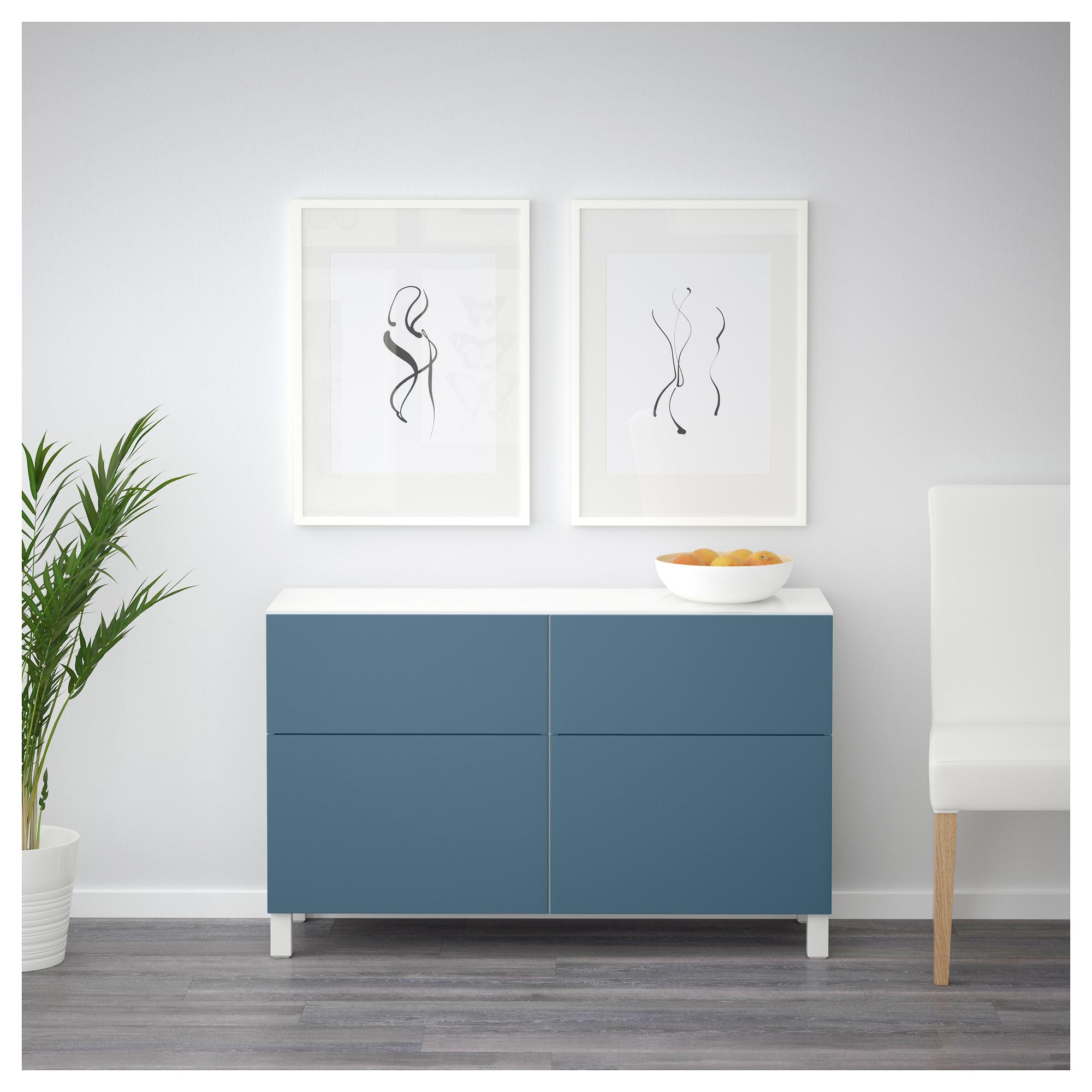 Комбинация для хранения с ящиками БЕСТО темно-синий артикуль № 392.452.47 в наличии. Online каталог IKEA РБ. Недорогая доставка и установка.