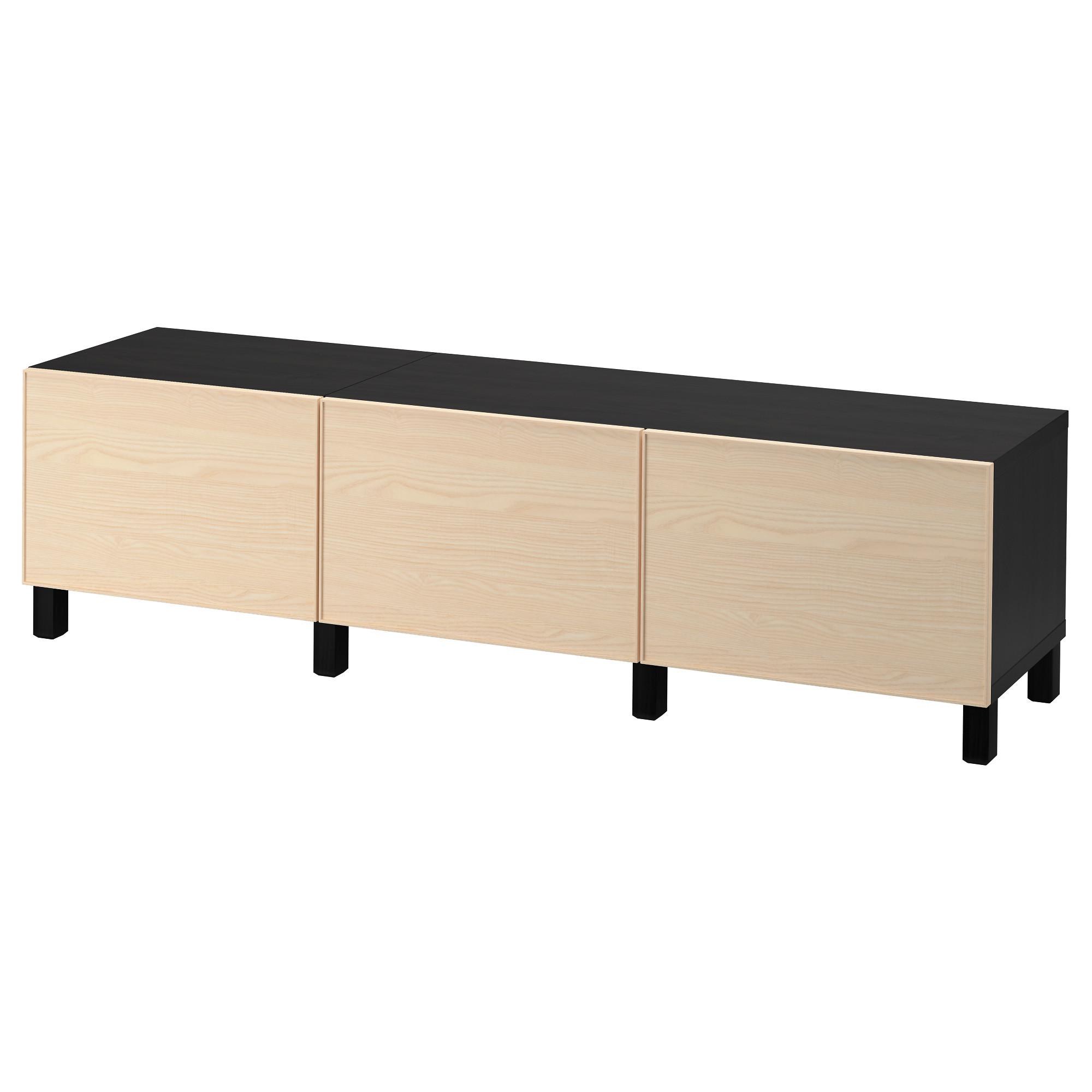 Комбинация для хранения с ящиками БЕСТО черно-коричневый артикуль № 892.489.79 в наличии. Online магазин IKEA РБ. Быстрая доставка и установка.