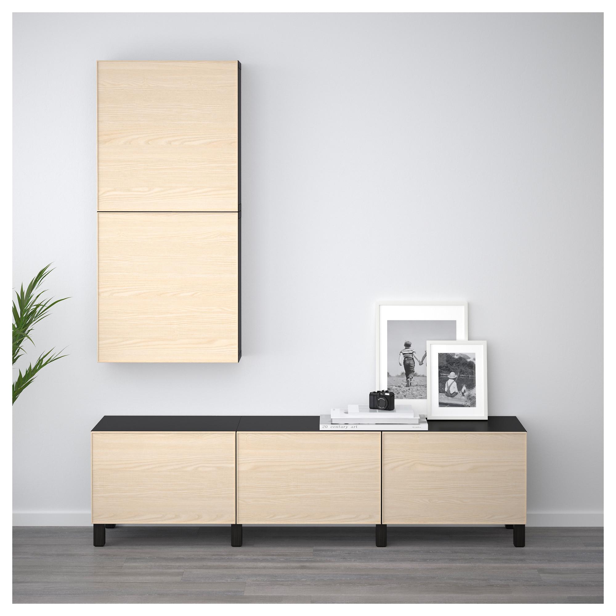 Комбинация для хранения с ящиками БЕСТО черно-коричневый артикуль № 892.489.79 в наличии. Online сайт IKEA РБ. Недорогая доставка и соборка.
