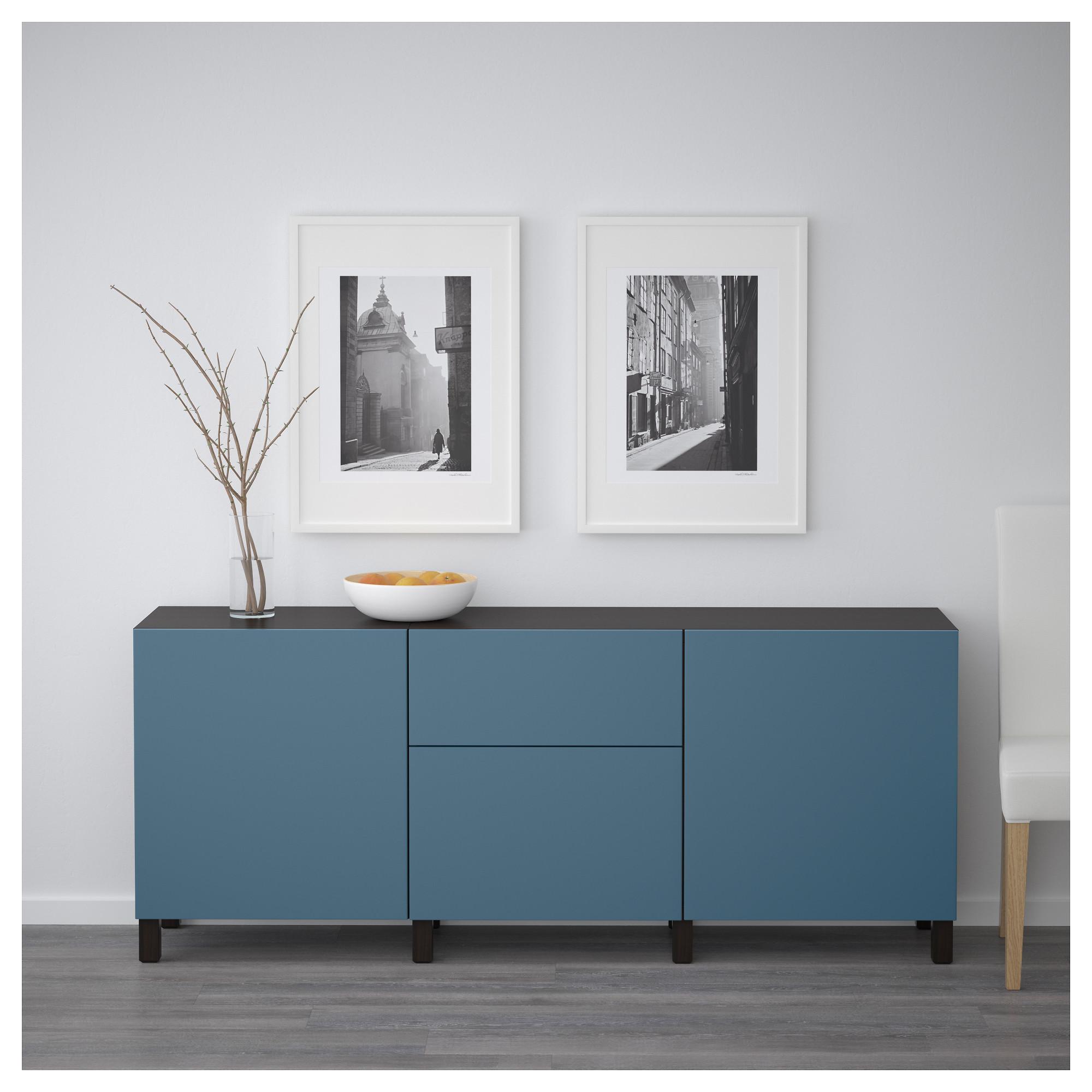 Комбинация для хранения с ящиками БЕСТО темно-синий артикуль № 892.494.36 в наличии. Онлайн магазин IKEA Минск. Быстрая доставка и установка.