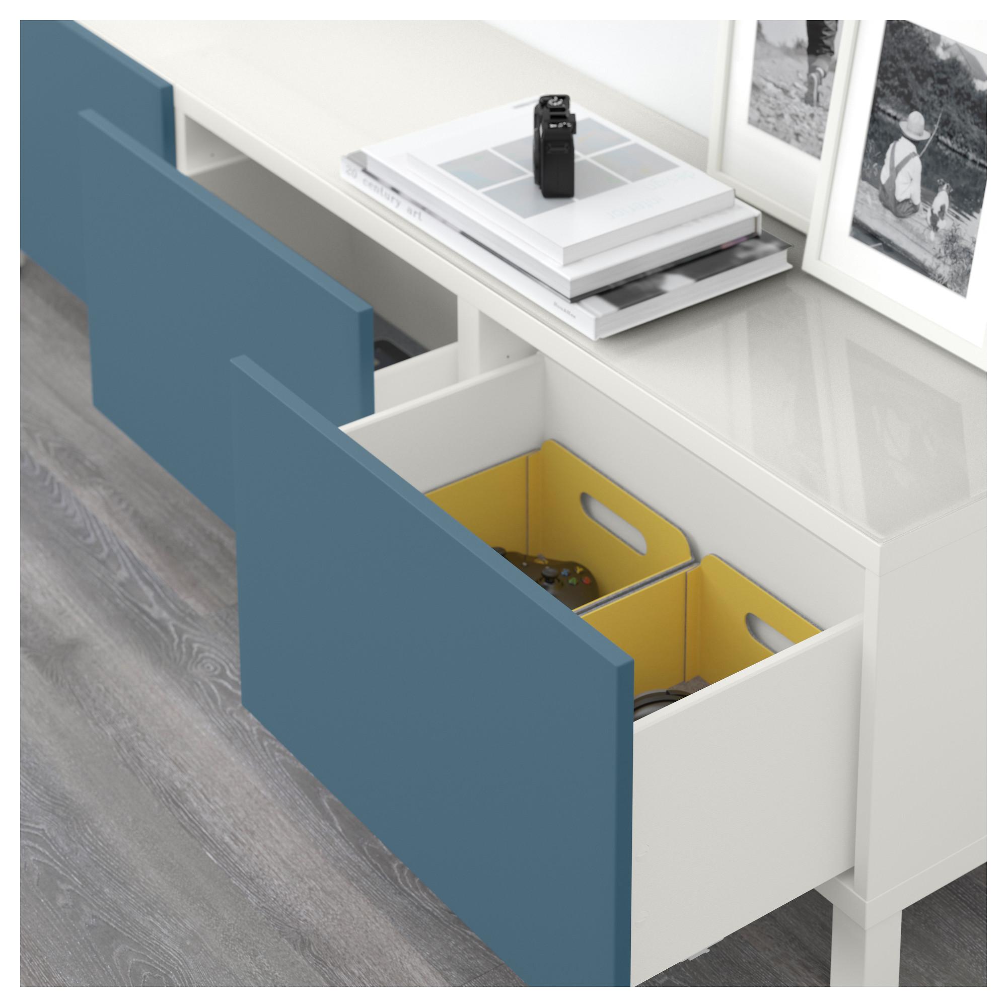 Комбинация для хранения с ящиками БЕСТО темно-синий артикуль № 992.450.70 в наличии. Интернет каталог IKEA Минск. Быстрая доставка и установка.