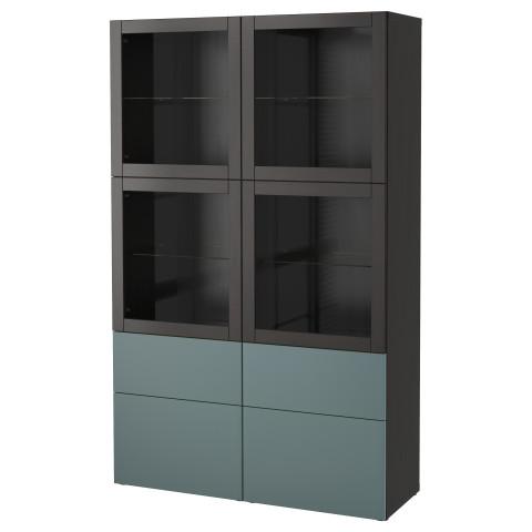 Комбинация для хранения со стеклянными дверцами БЕСТО артикуль № 092.467.57 в наличии. Онлайн каталог IKEA Республика Беларусь. Недорогая доставка и установка.