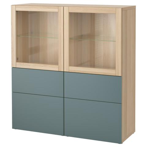 Комбинация для хранения со стеклянными дверцами БЕСТО артикуль № 092.482.47 в наличии. Интернет каталог IKEA Беларусь. Быстрая доставка и соборка.