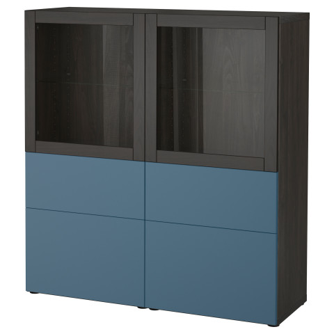 Комбинация для хранения со стеклянными дверцами БЕСТО артикуль № 192.482.42 в наличии. Онлайн каталог IKEA РБ. Недорогая доставка и соборка.