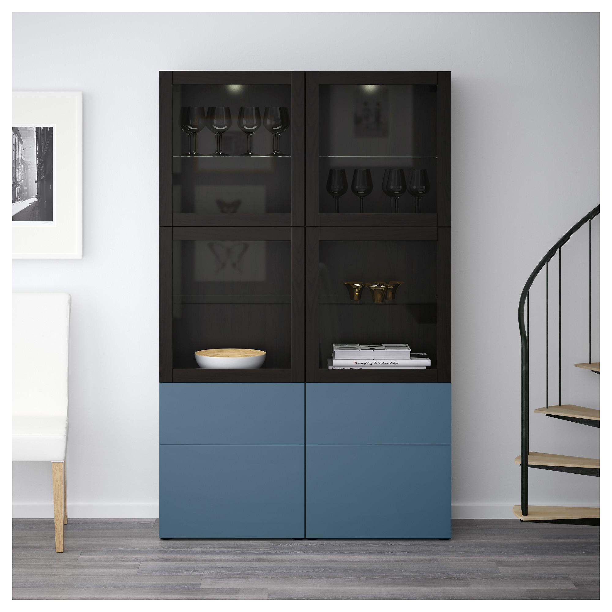 Комбинация для хранения со стеклянными дверцами БЕСТО артикуль № 292.467.61 в наличии. Онлайн сайт IKEA Республика Беларусь. Быстрая доставка и соборка.