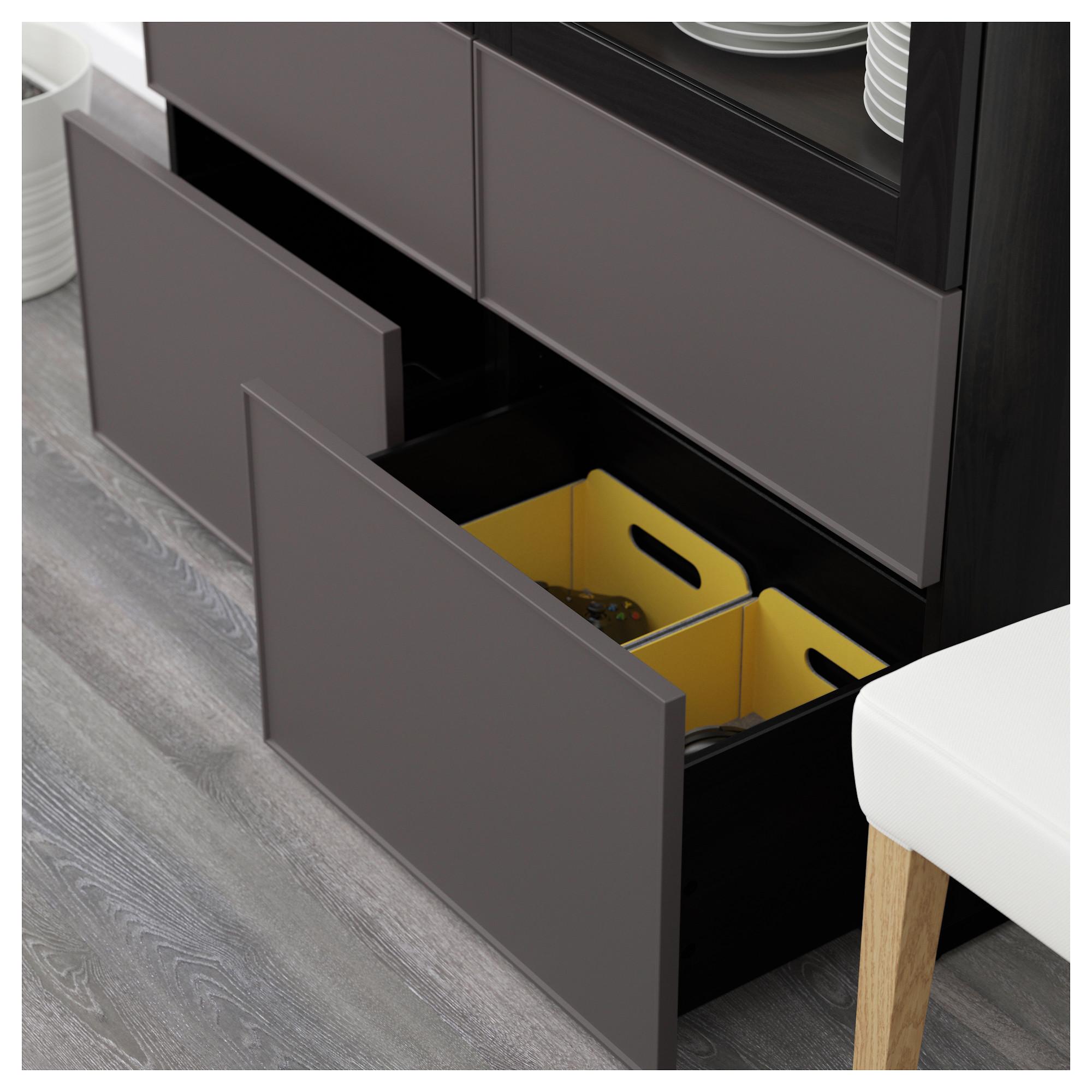 Комбинация для хранения со стеклянными дверцами БЕСТО артикуль № 292.467.75 в наличии. Online магазин IKEA Беларусь. Быстрая доставка и монтаж.