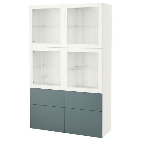 Комбинация для хранения со стеклянными дверцами БЕСТО белый артикуль № 492.467.55 в наличии. Online сайт IKEA Беларусь. Быстрая доставка и монтаж.