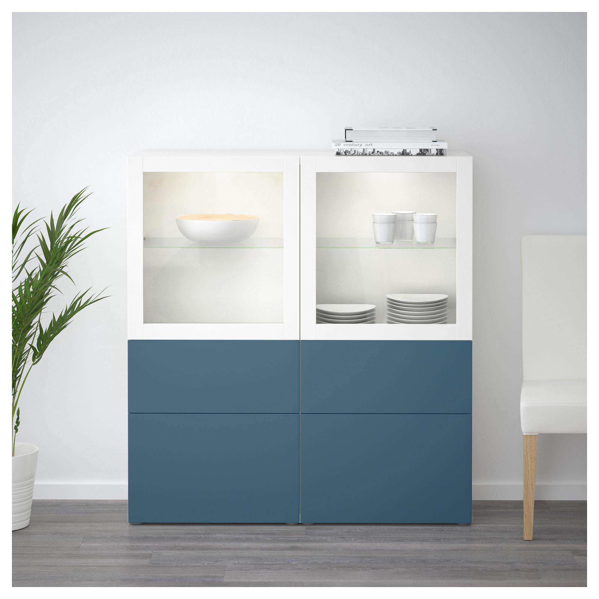 Комбинация для хранения со стеклянными дверцами БЕСТО артикуль № 492.482.45 в наличии. Интернет магазин IKEA Беларусь. Быстрая доставка и установка.