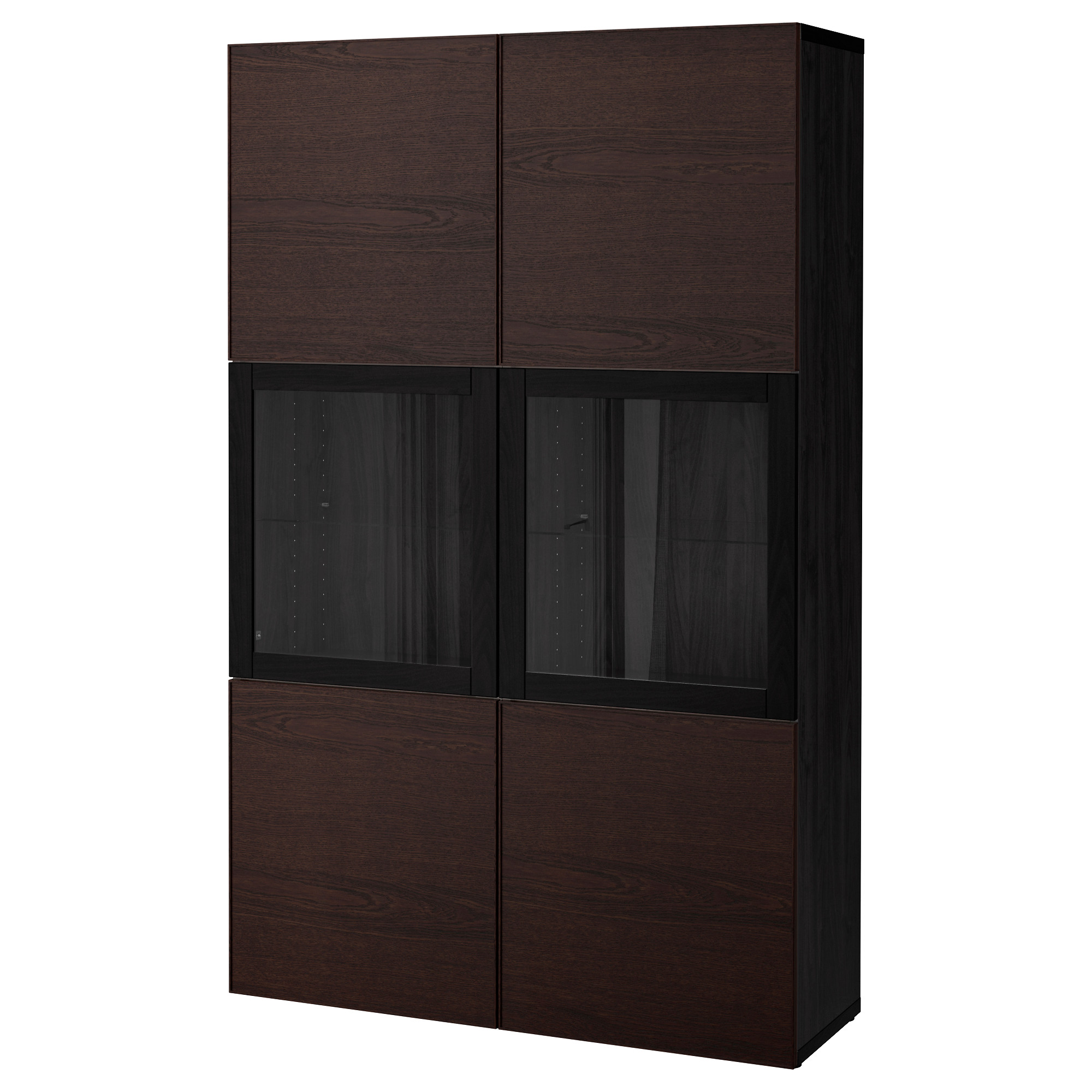 Комбинация для хранения со стеклянными дверцами БЕСТО черно-коричневый артикуль № 692.474.38 в наличии. Онлайн магазин IKEA Беларусь. Быстрая доставка и монтаж.