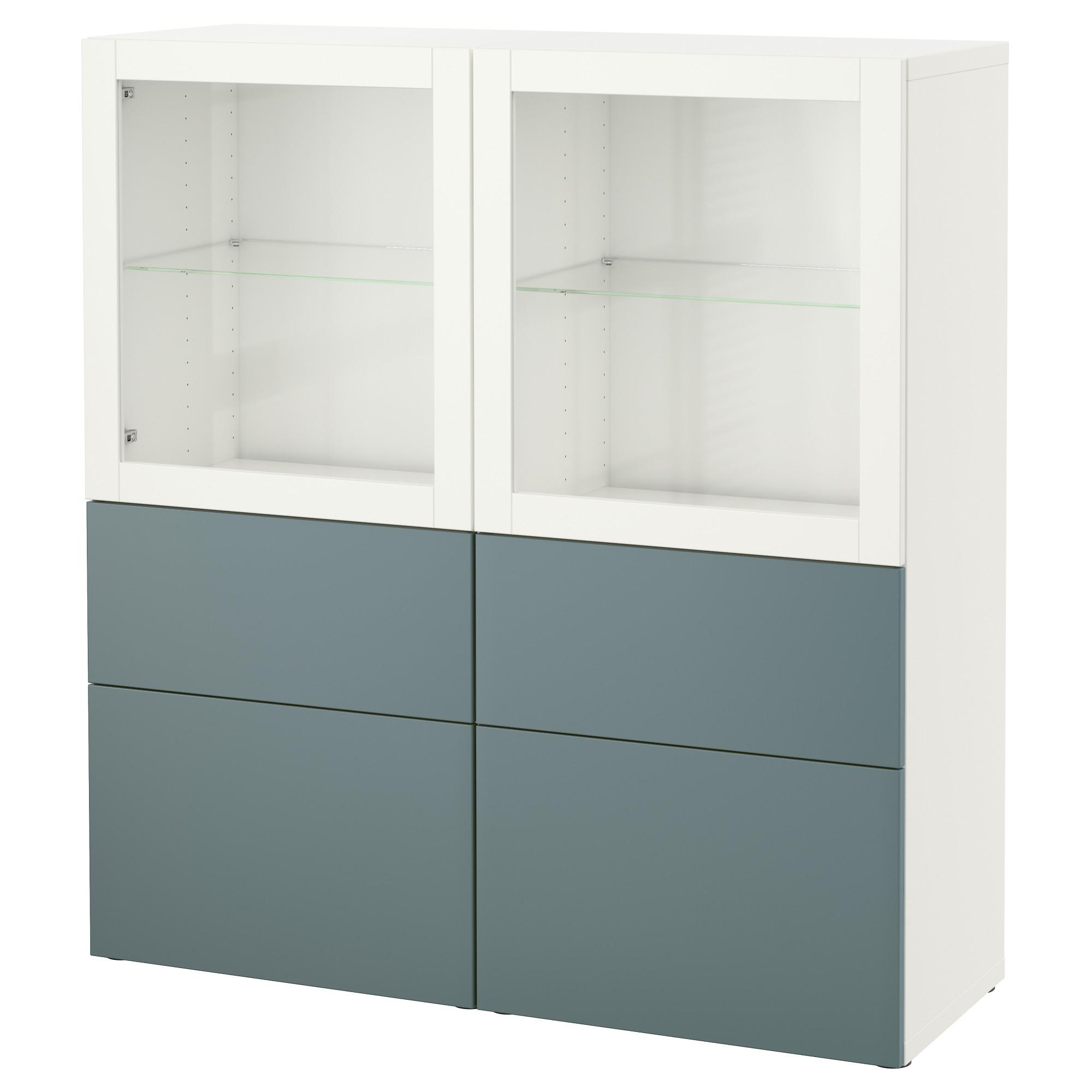 Комбинация для хранения со стеклянными дверцами БЕСТО белый артикуль № 792.482.39 в наличии. Онлайн каталог IKEA Республика Беларусь. Быстрая доставка и установка.