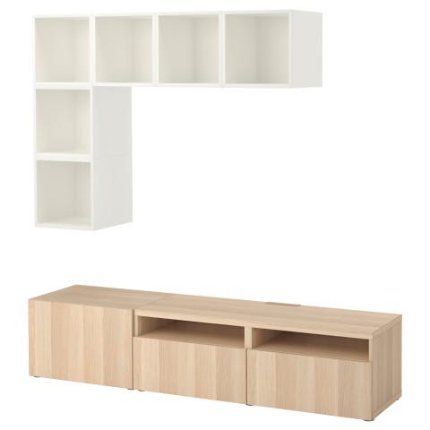 Комбинация для ТВ БЕСТО / ЭКЕТ белый артикуль № 092.756.03 в наличии. Интернет сайт IKEA Республика Беларусь. Недорогая доставка и установка.