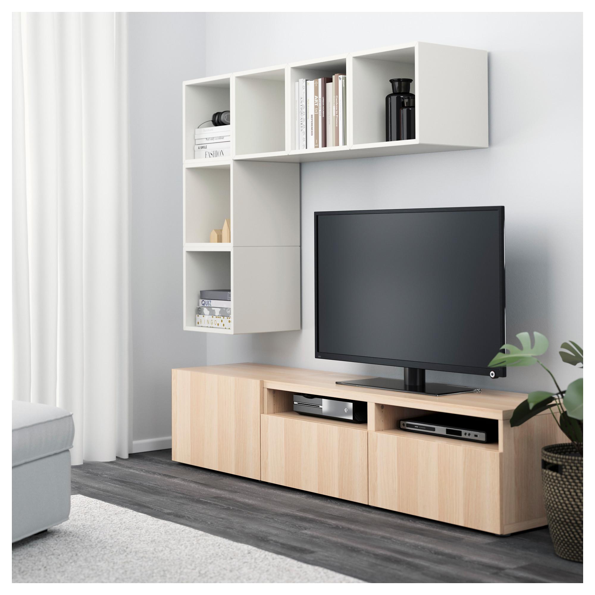 Комбинация для ТВ БЕСТО / ЭКЕТ белый артикуль № 092.756.03 в наличии. Online магазин IKEA Беларусь. Недорогая доставка и соборка.