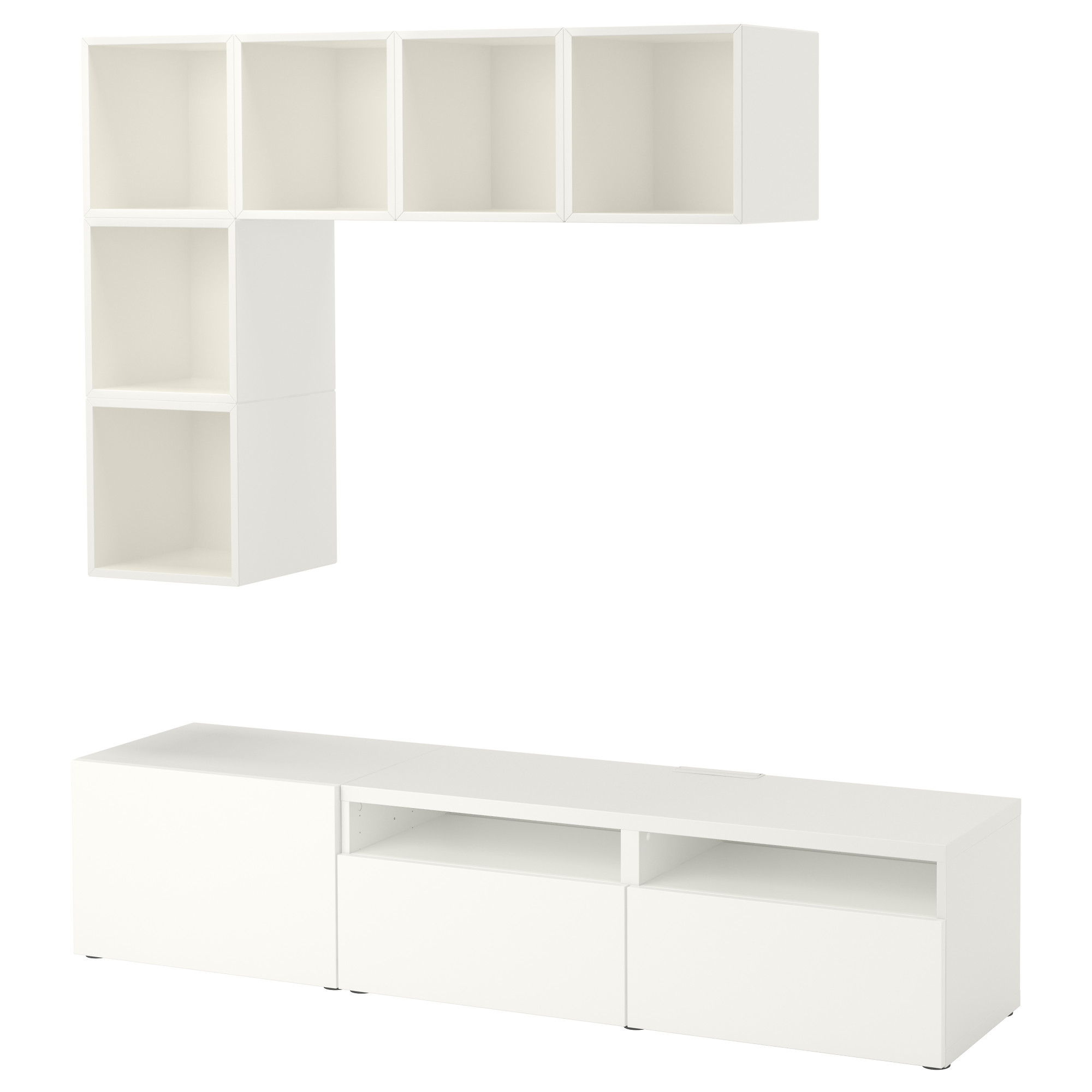 Комбинация для ТВ БЕСТО / ЭКЕТ белый артикуль № 092.756.17 в наличии. Интернет каталог IKEA РБ. Быстрая доставка и монтаж.