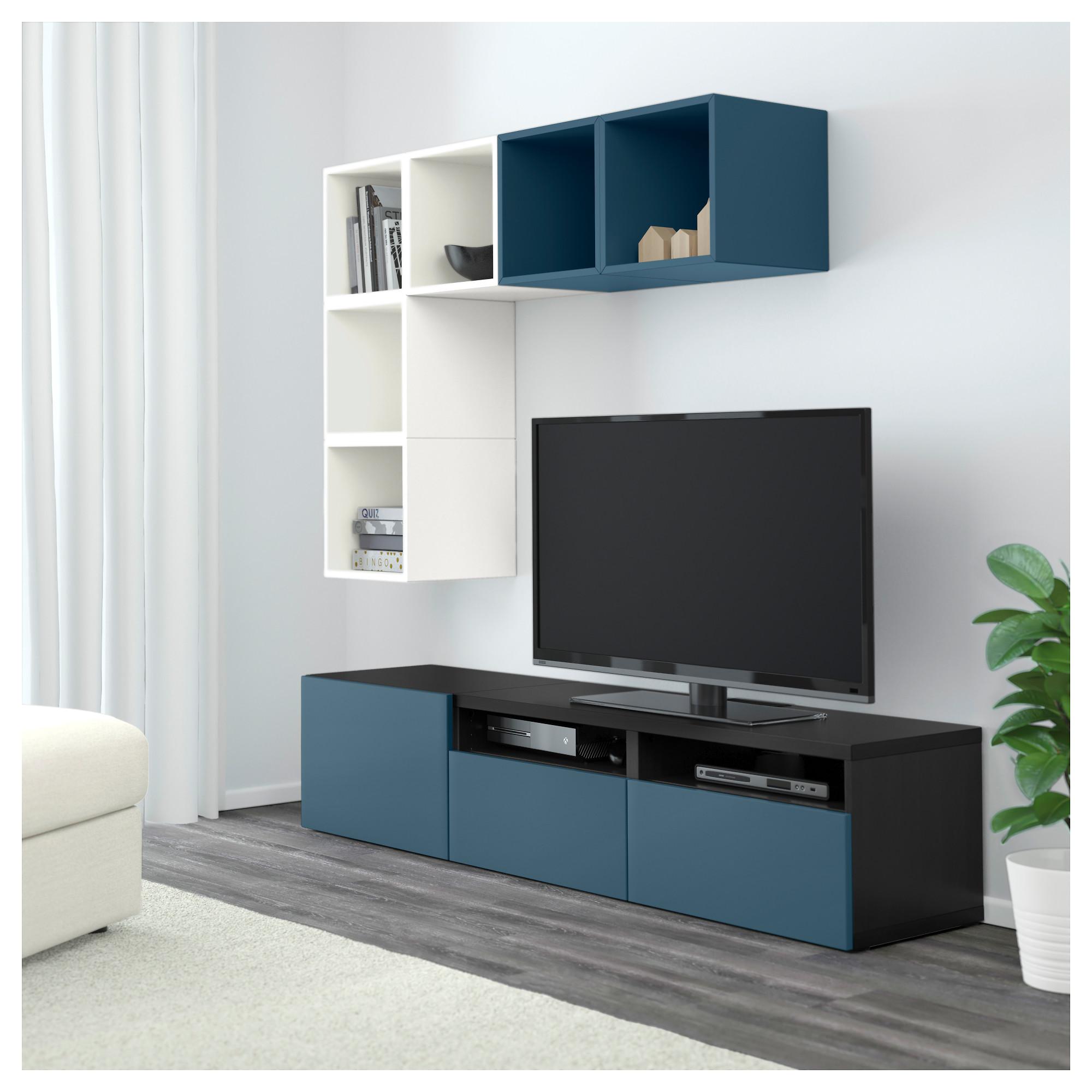 Комбинация для ТВ БЕСТО / ЭКЕТ темно-синий артикуль № 492.755.97 в наличии. Интернет каталог IKEA РБ. Быстрая доставка и установка.