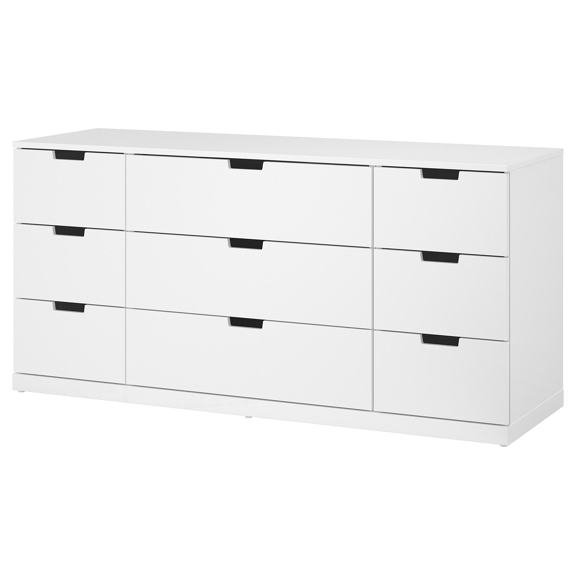 Комод с 9 ящиками НОРДЛИ белый артикуль № 492.029.78 в наличии. Online магазин IKEA Минск. Быстрая доставка и установка.