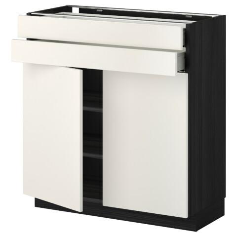 Напольный шкаф, 2 дверцы, 2 ящика МЕТОД / МАКСИМЕРА черный артикуль № 592.337.76 в наличии. Онлайн сайт IKEA РБ. Быстрая доставка и установка.