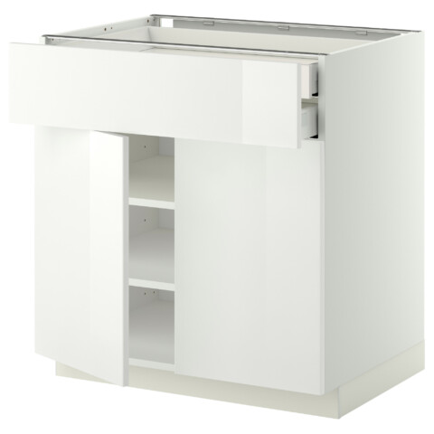 Напольный шкаф, 2 дверцы, 2 ящика МЕТОД / МАКСИМЕРА белый артикуль № 692.354.59 в наличии. Интернет магазин IKEA РБ. Недорогая доставка и установка.