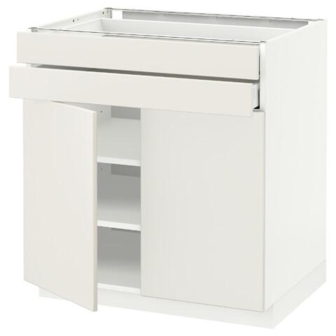 Напольный шкаф, 2 дверцы, 2 ящика МЕТОД / МАКСИМЕРА белый артикуль № 792.347.32 в наличии. Интернет сайт IKEA РБ. Быстрая доставка и монтаж.