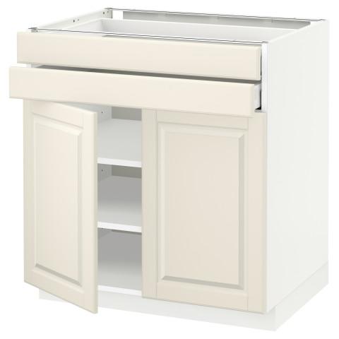 Напольный шкаф, 2 дверцы, 2 ящика МЕТОД / МАКСИМЕРА белый артикуль № 992.324.97 в наличии. Интернет сайт IKEA Минск. Недорогая доставка и соборка.