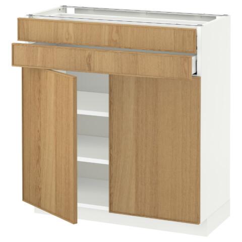 Напольный шкаф, 2 дверцы, 2 ящика МЕТОД / МАКСИМЕРА белый артикуль № 992.342.84 в наличии. Интернет магазин IKEA Беларусь. Быстрая доставка и монтаж.