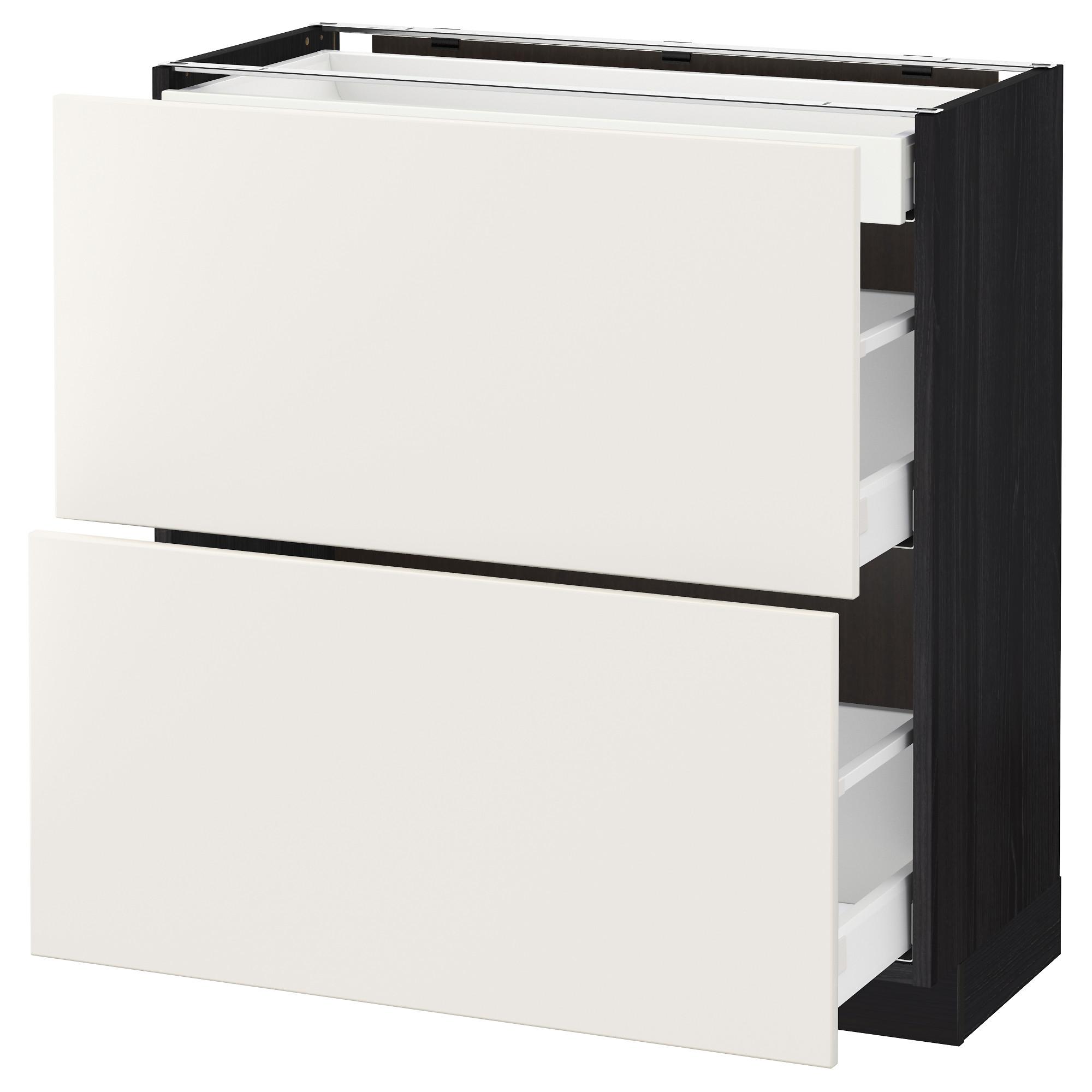 Напольный шкаф, 2 фасада, 3 ящика МЕТОД / МАКСИМЕРА черный артикуль № 192.348.05 в наличии. Интернет сайт IKEA РБ. Быстрая доставка и соборка.