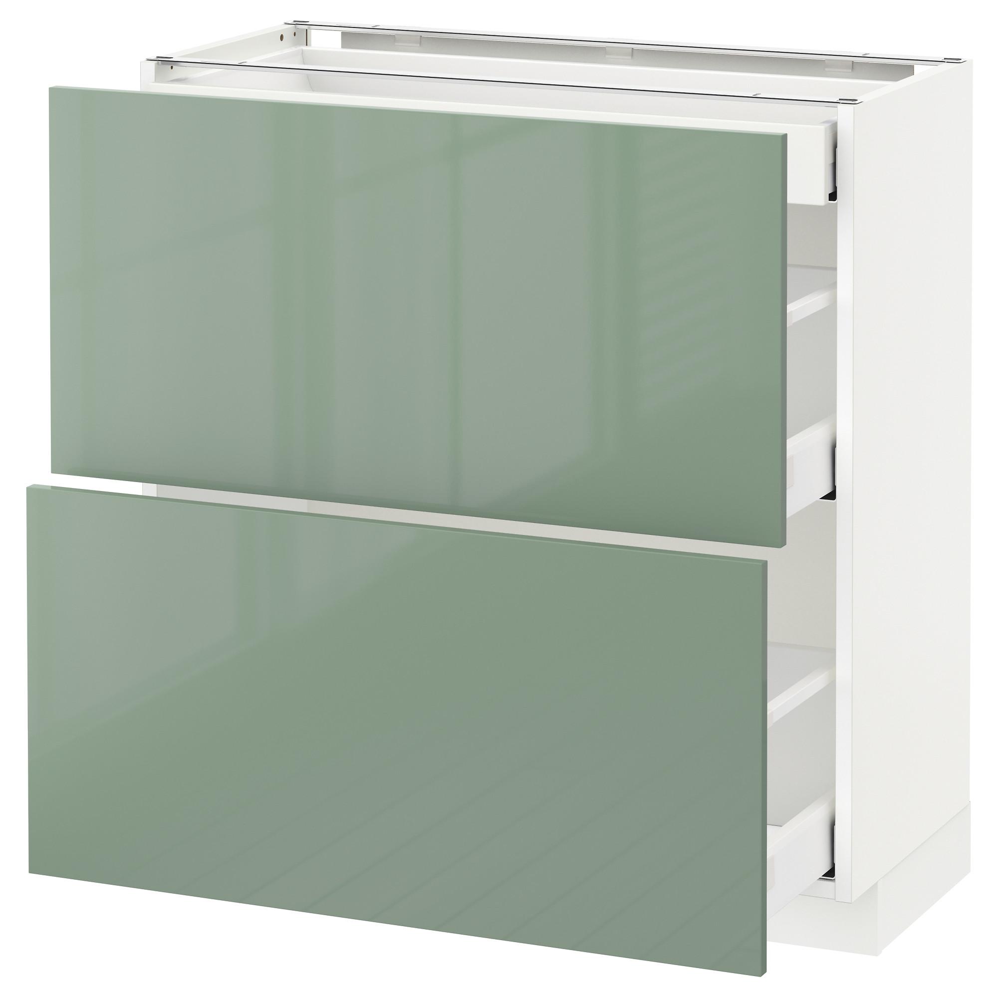 Напольный шкаф, 2 фасада, 3 ящика МЕТОД / МАКСИМЕРА светло-зеленый артикуль № 192.460.02 в наличии. Онлайн сайт ИКЕА РБ. Недорогая доставка и соборка.