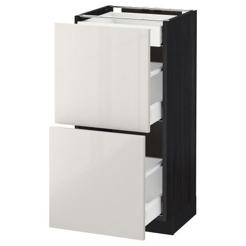 Напольный шкаф, 2 фасада, 3 ящика МЕТОД / МАКСИМЕРА черный артикуль № 392.361.20 в наличии. Онлайн сайт IKEA РБ. Быстрая доставка и соборка.