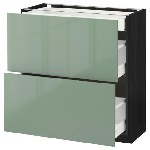 Напольный шкаф, 2 фасада, 3 ящика МЕТОД / МАКСИМЕРА черный артикуль № 392.460.01 в наличии. Online каталог IKEA РБ. Быстрая доставка и установка.