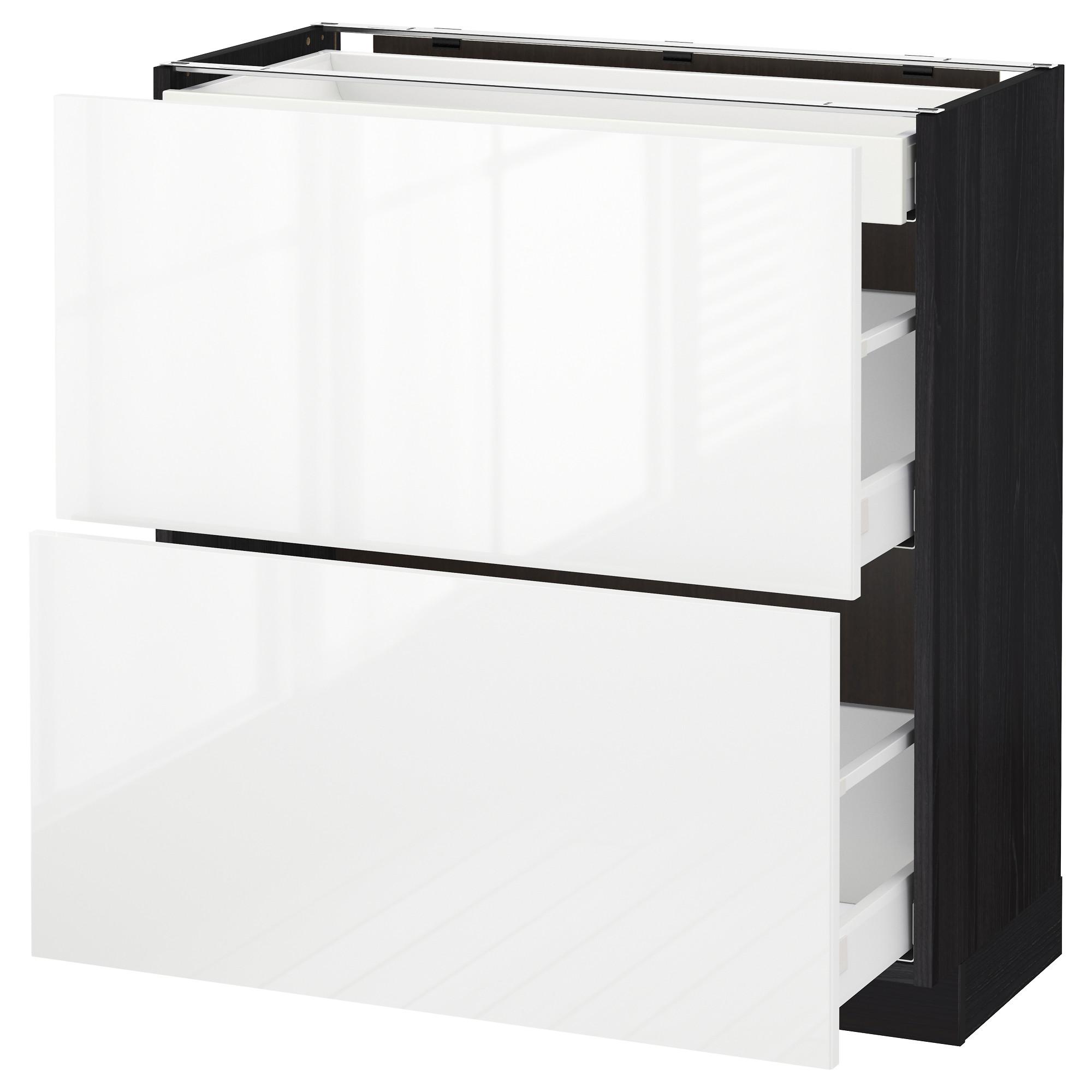 Напольный шкаф, 2 фасада, 3 ящика МЕТОД / МАКСИМЕРА черный артикуль № 492.361.34 в наличии. Онлайн сайт IKEA РБ. Быстрая доставка и соборка.