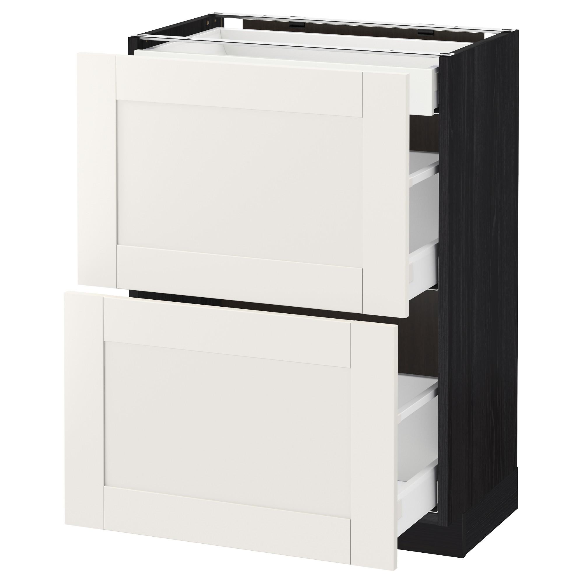 Напольный шкаф, 2 фасада, 3 ящика МЕТОД / МАКСИМЕРА черный артикуль № 692.387.40 в наличии. Интернет каталог IKEA Беларусь. Быстрая доставка и установка.