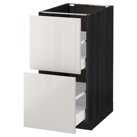 Напольный шкаф 2 форнтальных, 2 высоких ящик МЕТОД / МАКСИМЕРА черный артикуль № 492.343.66 в наличии. Онлайн сайт IKEA РБ. Быстрая доставка и монтаж.