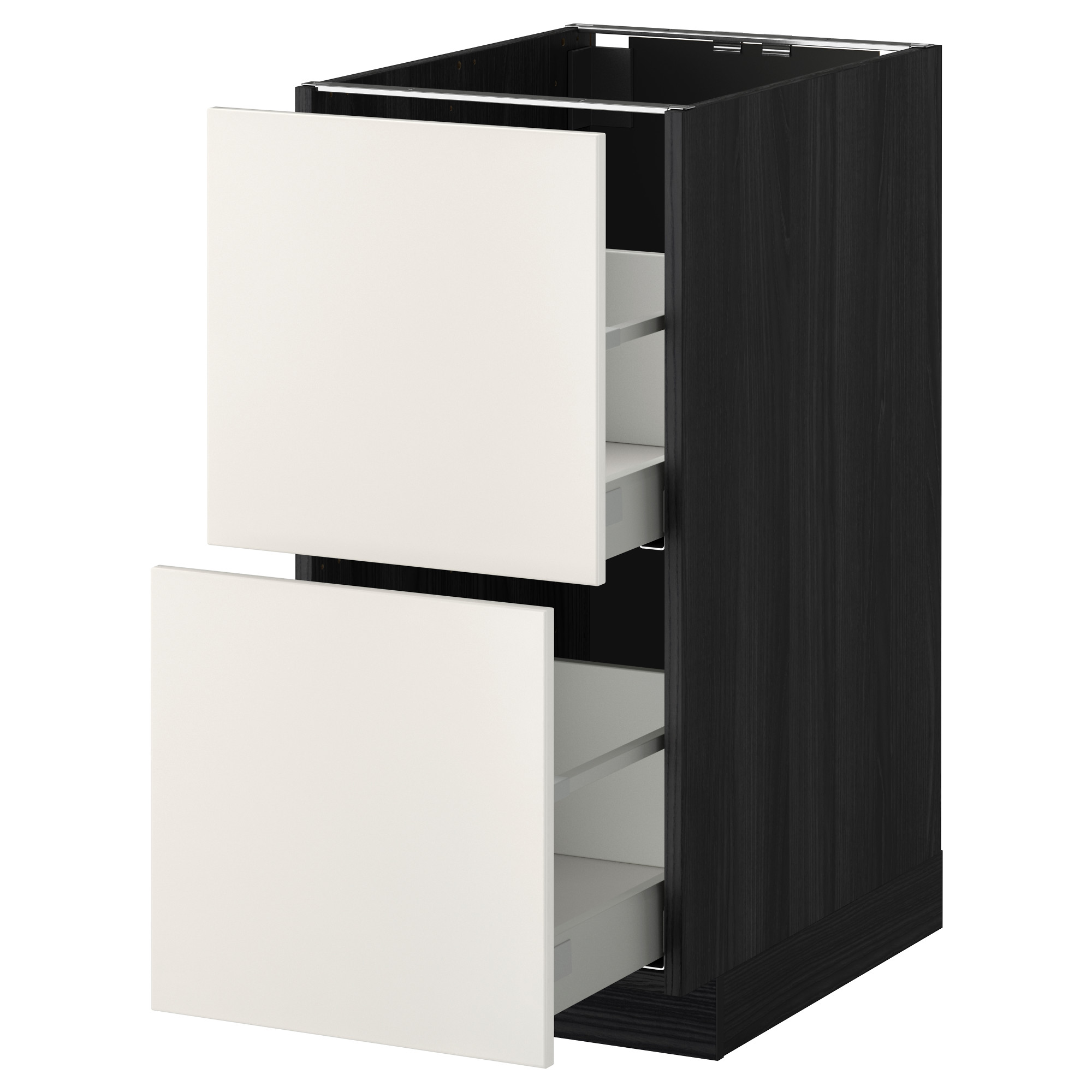 Напольный шкаф 2 форнтальных, 2 высоких ящик МЕТОД / МАКСИМЕРА черный артикуль № 892.338.31 в наличии. Онлайн каталог IKEA РБ. Быстрая доставка и установка.