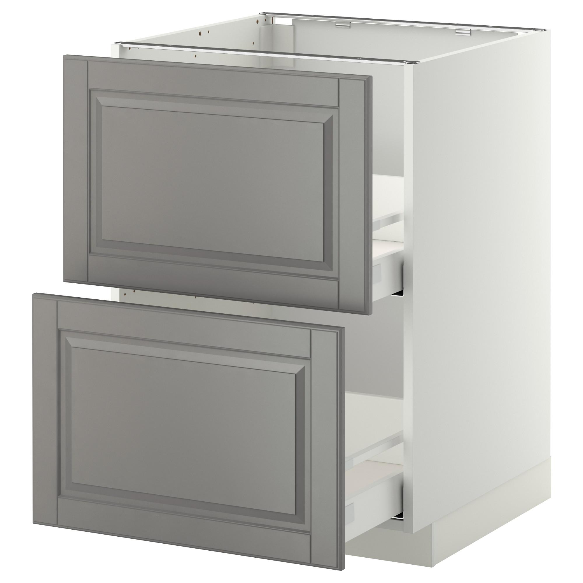 Напольный шкаф 2 фронтальные панели/2 средняя ящик МЕТОД / МАКСИМЕРА серый артикуль № 792.314.32 в наличии. Онлайн магазин IKEA Беларусь. Недорогая доставка и соборка.