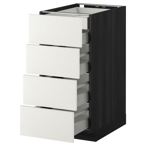 Напольный шкаф 4 фронтальных панели, 2 низких, 3 средних ящика МЕТОД / МАКСИМЕРА черный артикуль № 692.311.78 в наличии. Онлайн сайт IKEA Минск. Недорогая доставка и установка.