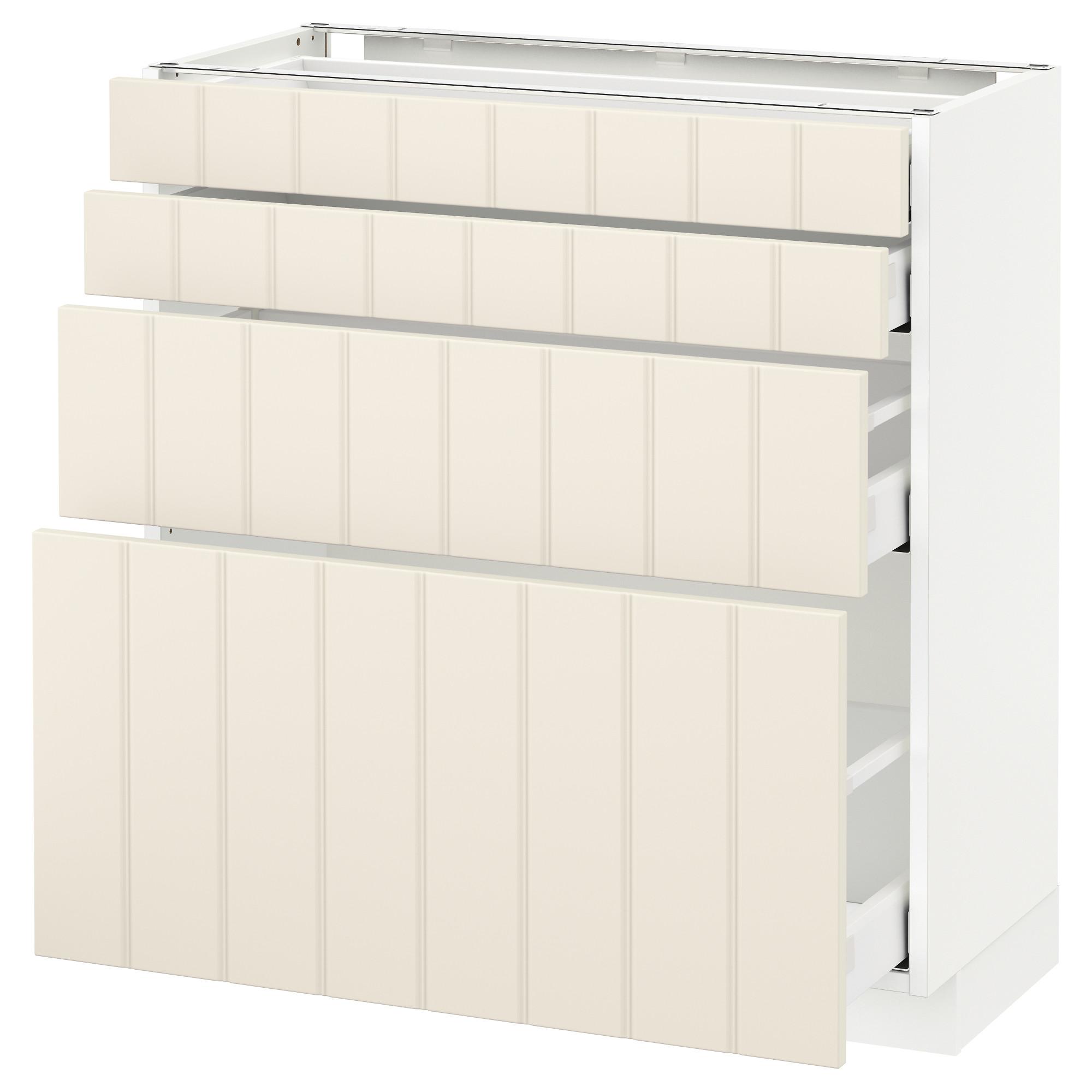 Напольный шкаф 4 фронтальных панели, 4 ящика МЕТОД / МАКСИМЕРА белый артикуль № 192.307.32 в наличии. Онлайн сайт ИКЕА РБ. Быстрая доставка и монтаж.
