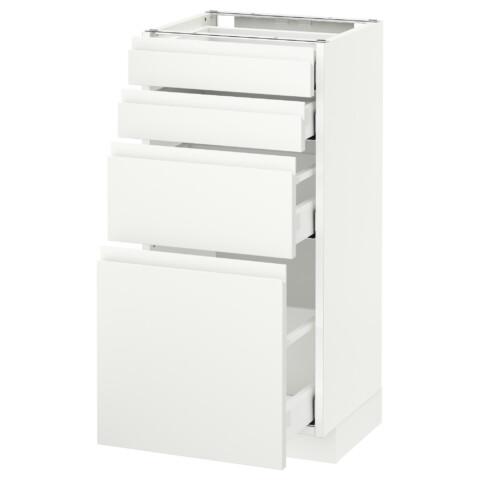 Напольный шкаф 4 фронтальных панели, 4 ящика МЕТОД / МАКСИМЕРА белый артикуль № 192.388.27 в наличии. Онлайн магазин IKEA РБ. Недорогая доставка и установка.