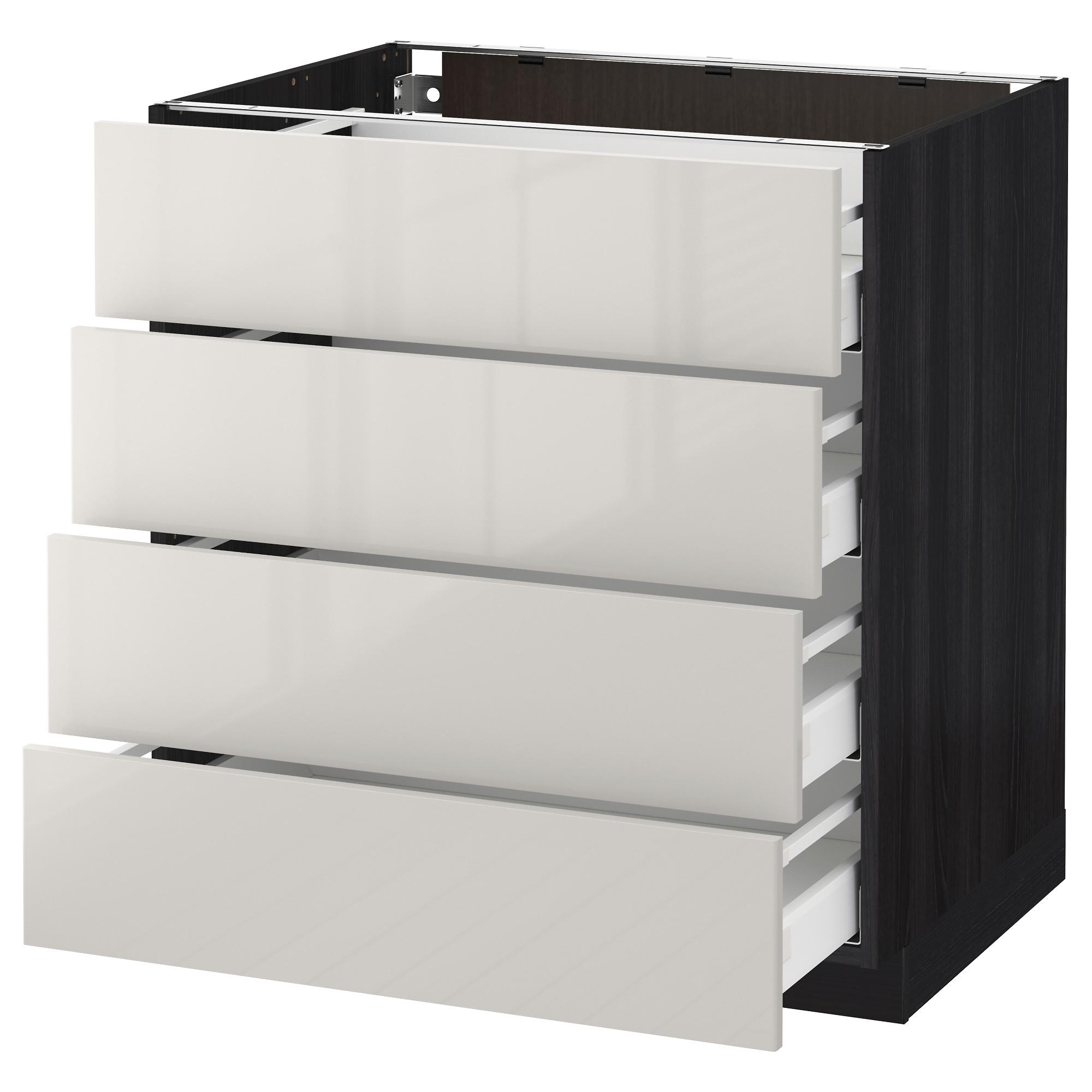 Напольный шкаф 4 фронтальных панели, 4 ящика МЕТОД / МАКСИМЕРА черный артикуль № 292.354.80 в наличии. Онлайн магазин IKEA РБ. Быстрая доставка и соборка.