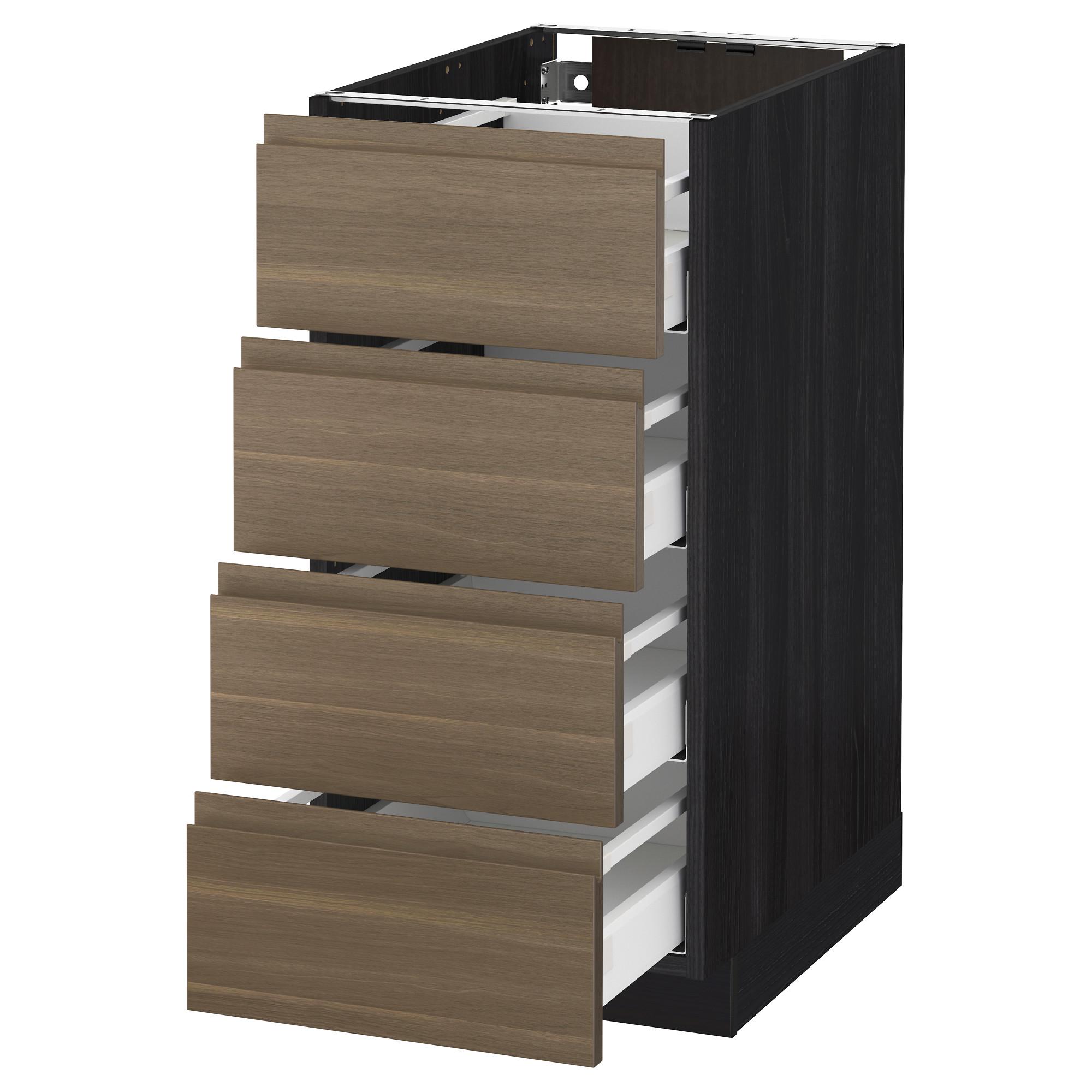 Напольный шкаф 4 фронтальных панели, 4 ящика МЕТОД / МАКСИМЕРА черный артикуль № 492.382.32 в наличии. Онлайн сайт IKEA Беларусь. Быстрая доставка и установка.
