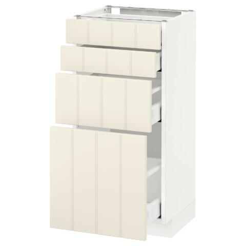 Напольный шкаф 4 фронтальных панели, 4 ящика МЕТОД / МАКСИМЕРА белый артикуль № 592.307.30 в наличии. Онлайн магазин IKEA РБ. Недорогая доставка и соборка.