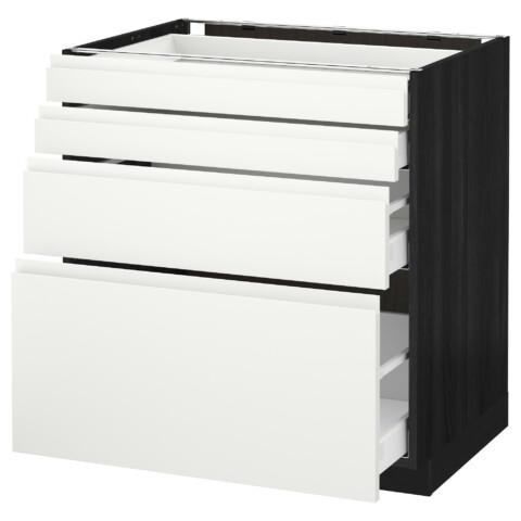 Напольный шкаф 4 фронтальных панели, 4 ящика МЕТОД / МАКСИМЕРА черный артикуль № 592.385.52 в наличии. Интернет магазин IKEA РБ. Недорогая доставка и соборка.