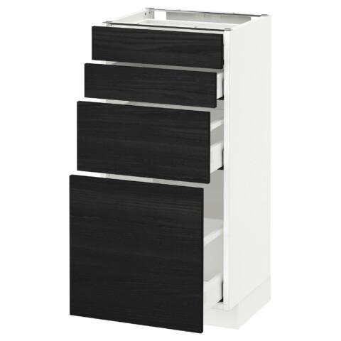Напольный шкаф 4 фронтальных панели, 4 ящика МЕТОД / МАКСИМЕРА черный артикуль № 692.362.32 в наличии. Онлайн каталог IKEA РБ. Недорогая доставка и соборка.