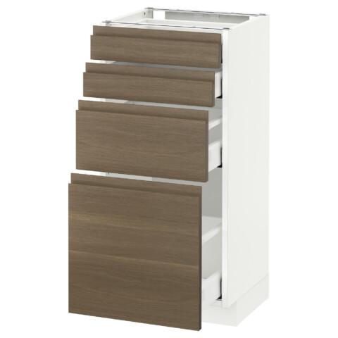 Напольный шкаф 4 фронтальных панели, 4 ящика МЕТОД / МАКСИМЕРА белый артикуль № 992.388.28 в наличии. Онлайн сайт IKEA РБ. Недорогая доставка и монтаж.