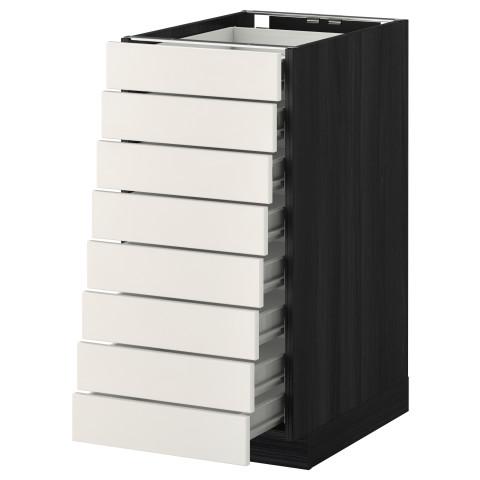 Напольный шкаф 8 фронтальных, 8 низких ящиков МЕТОД / ФОРВАРА черный артикуль № 792.618.91 в наличии. Интернет сайт IKEA Минск. Недорогая доставка и установка.